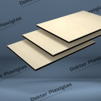 HPL Exterieur plaat 6 mm Creme RAL 1015